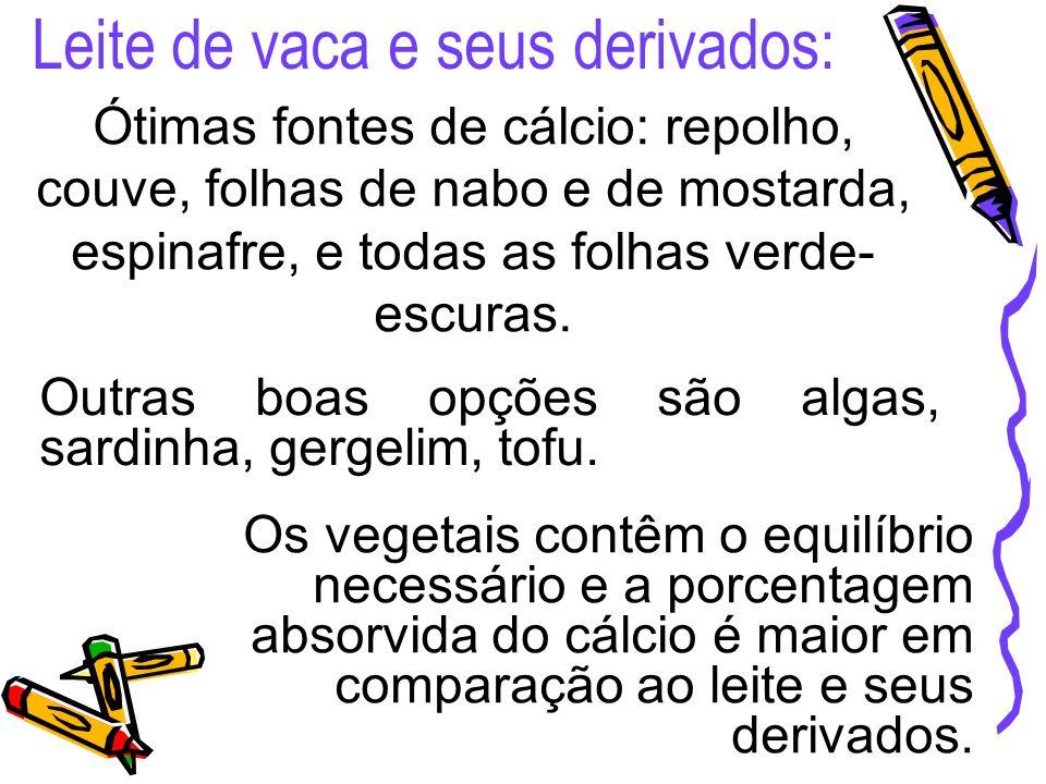 Leite de vaca e seus derivados: