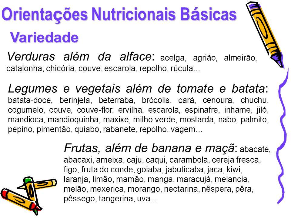 Orientações Nutricionais Básicas