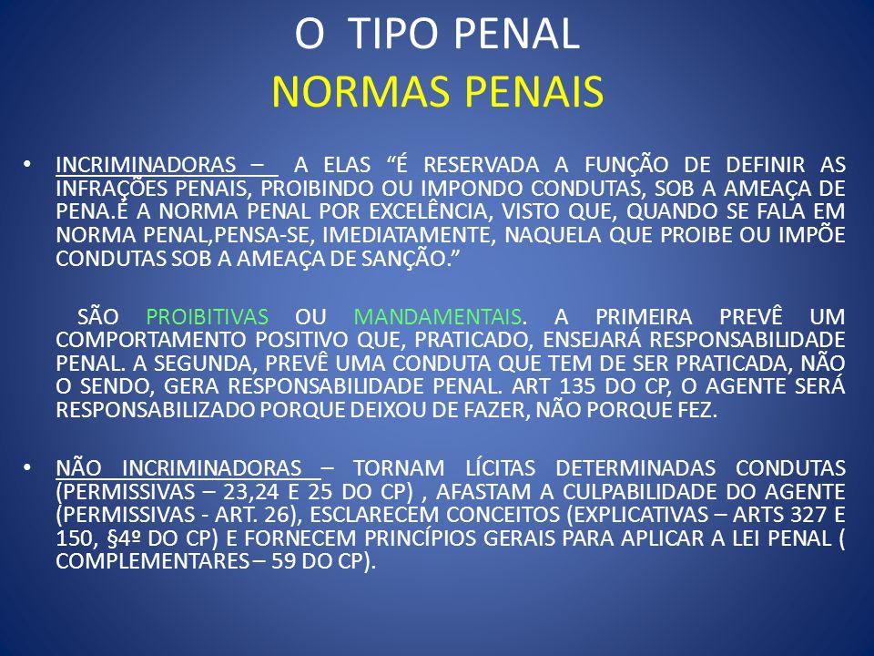 O TIPO PENAL NORMAS PENAIS