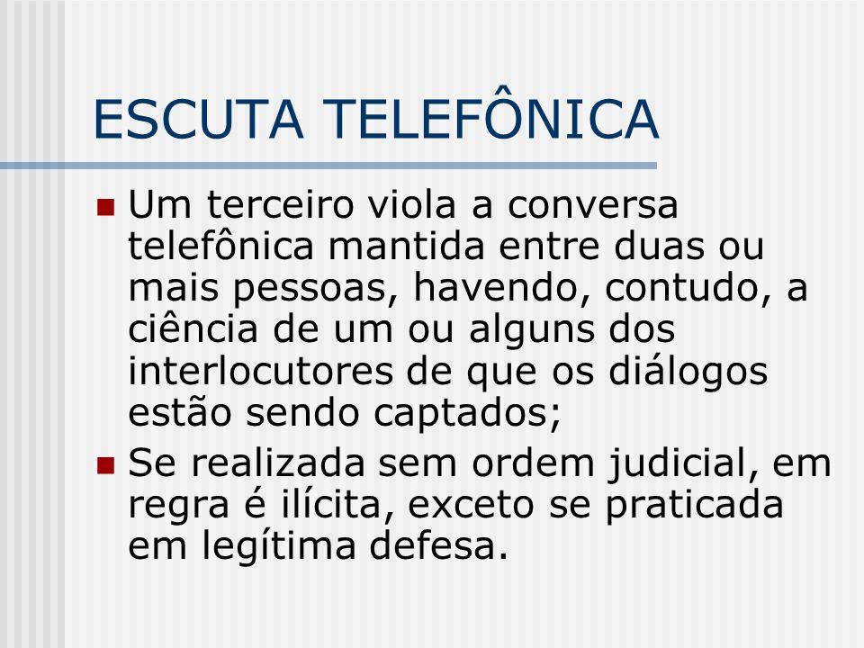 ESCUTA TELEFÔNICA