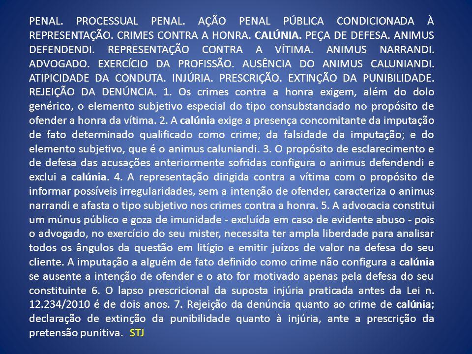 PENAL. PROCESSUAL PENAL