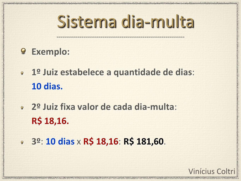 Sistema dia-multa Exemplo: