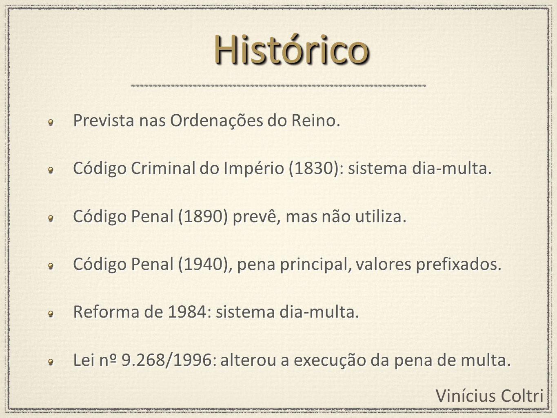 Histórico Prevista nas Ordenações do Reino.