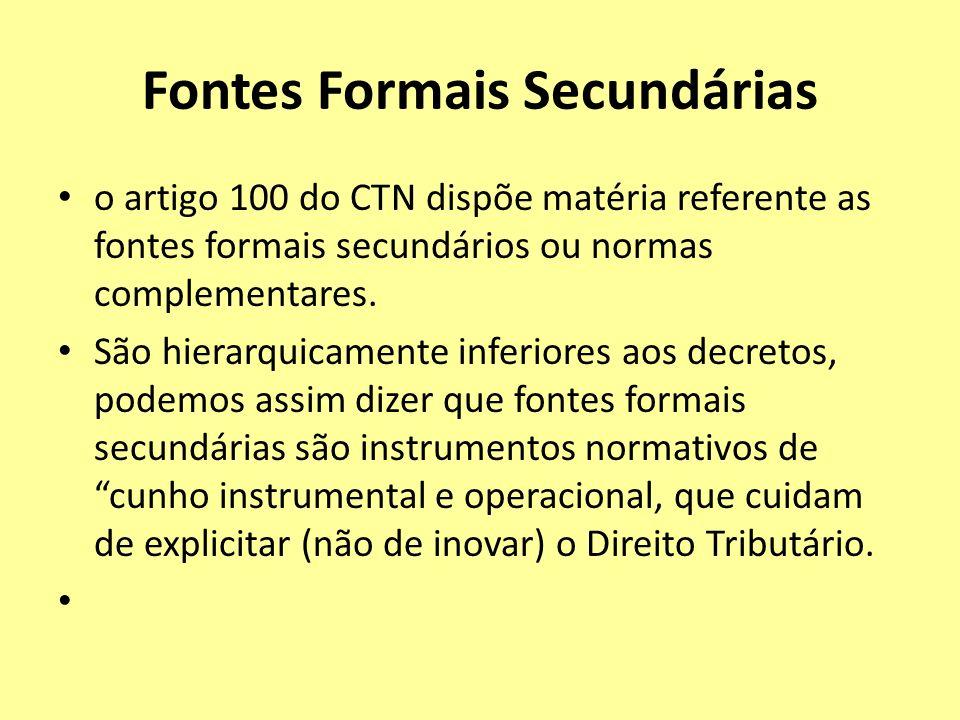 Fontes Formais Secundárias