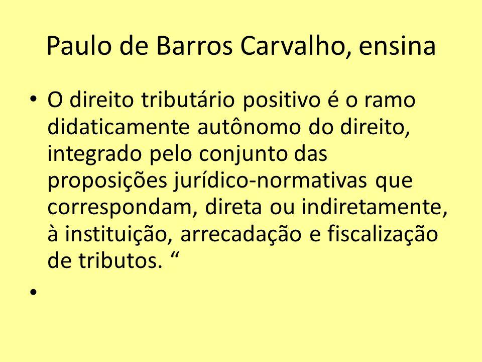 Paulo de Barros Carvalho, ensina