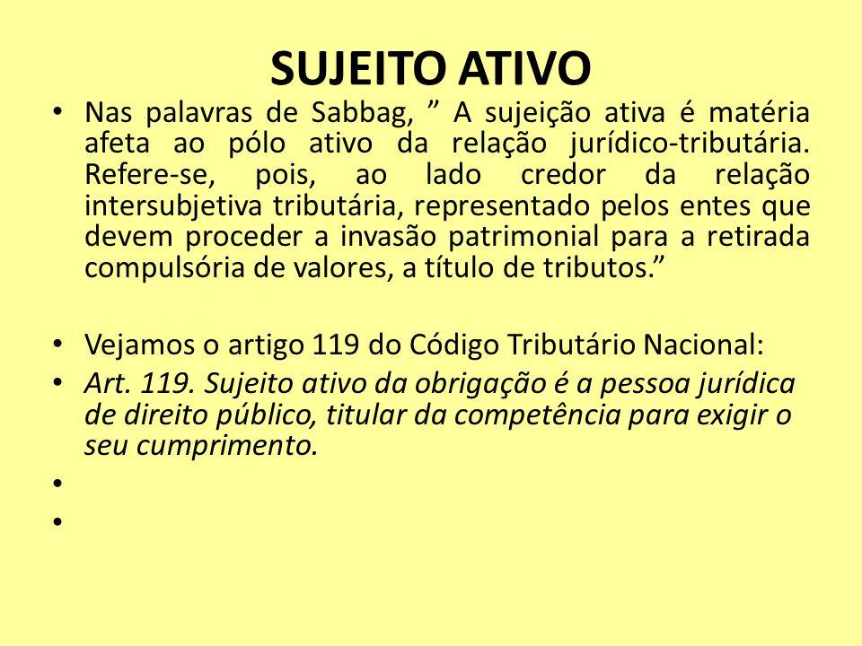 SUJEITO ATIVO