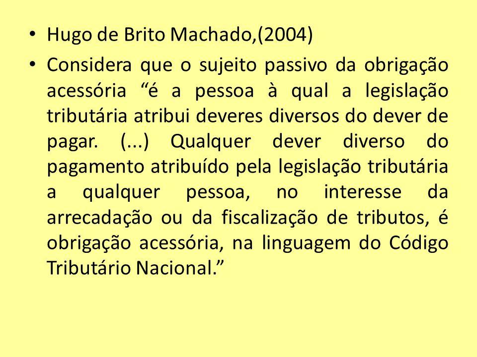 Hugo de Brito Machado,(2004)