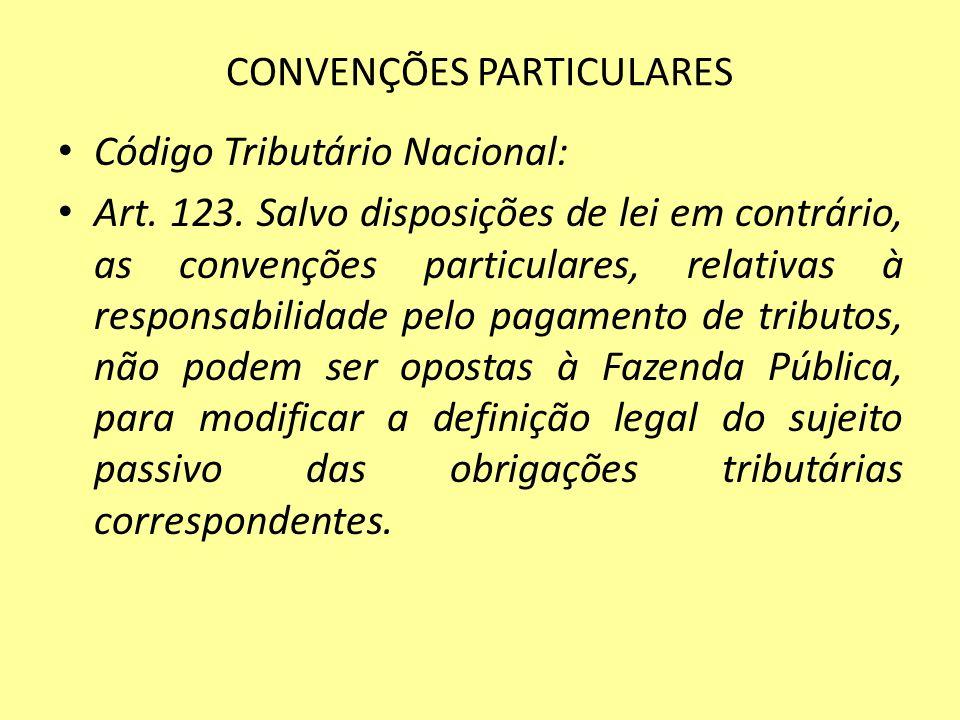 CONVENÇÕES PARTICULARES