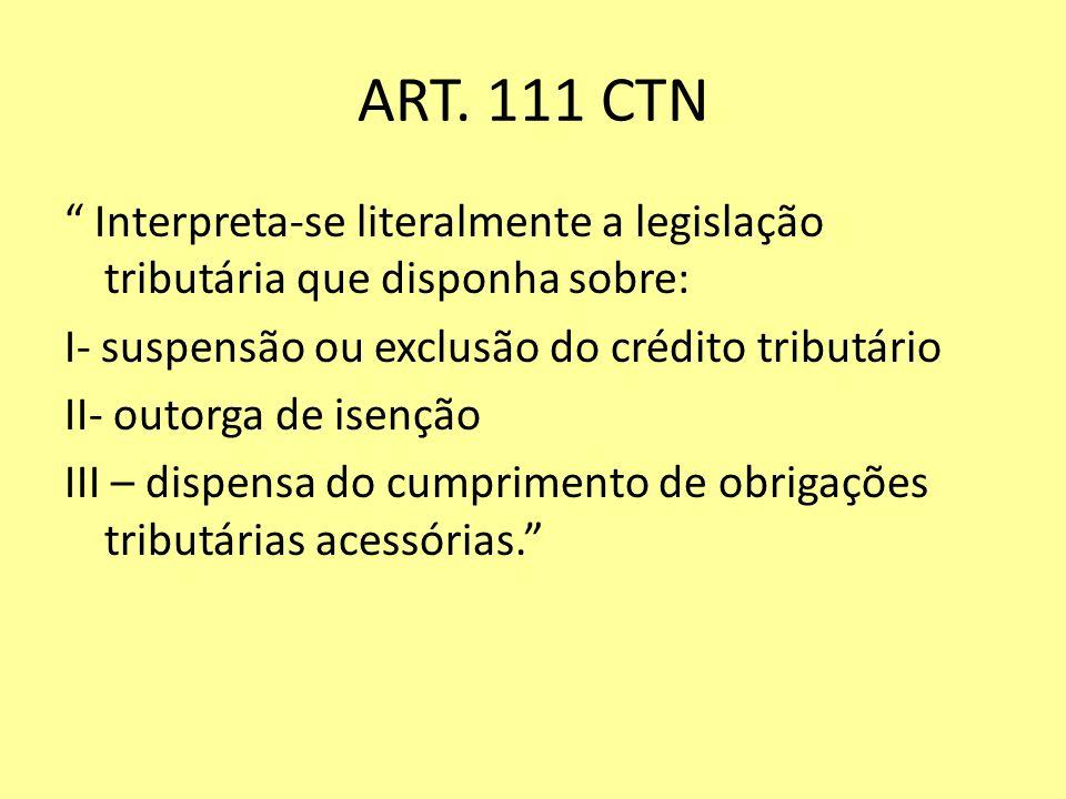 ART. 111 CTN