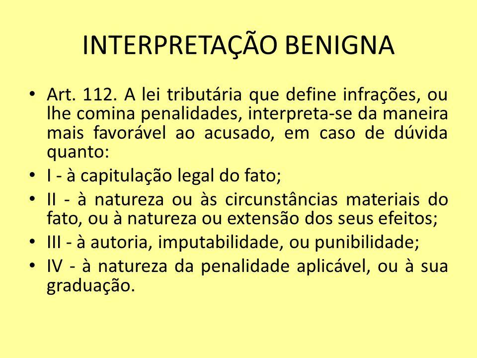 INTERPRETAÇÃO BENIGNA