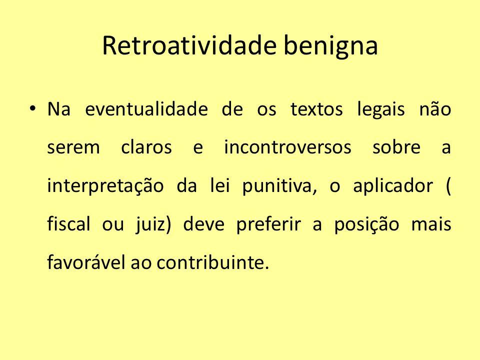 Retroatividade benigna