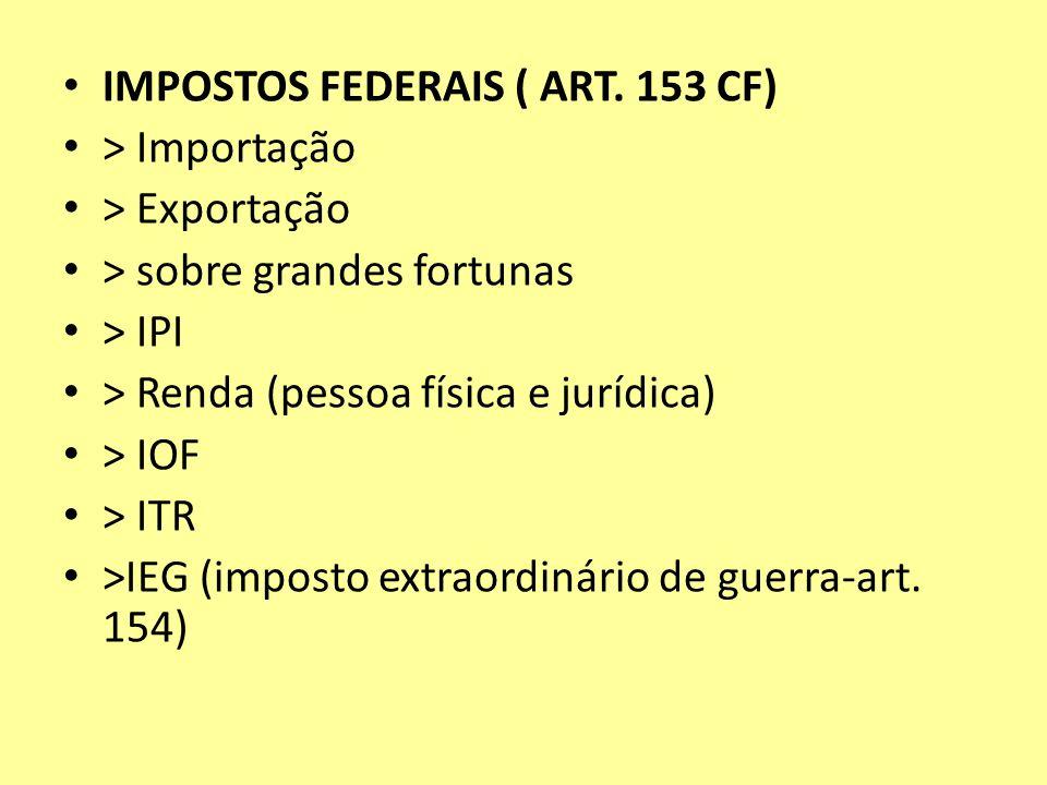 IMPOSTOS FEDERAIS ( ART. 153 CF)