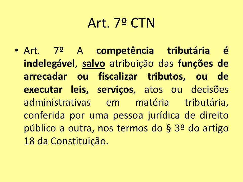 Art. 7º CTN