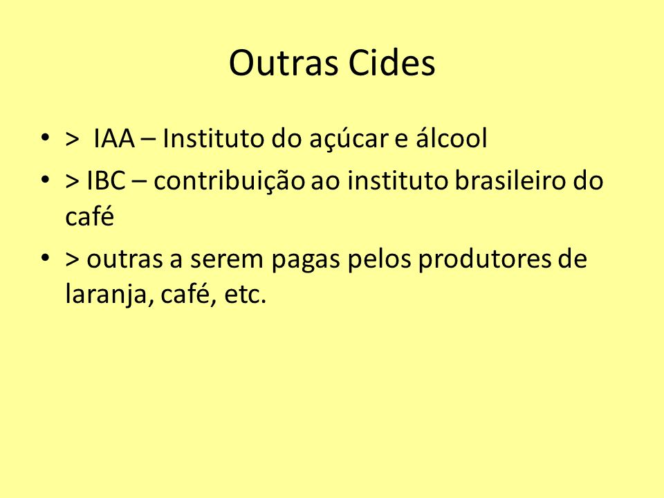 Outras Cides > IAA – Instituto do açúcar e álcool