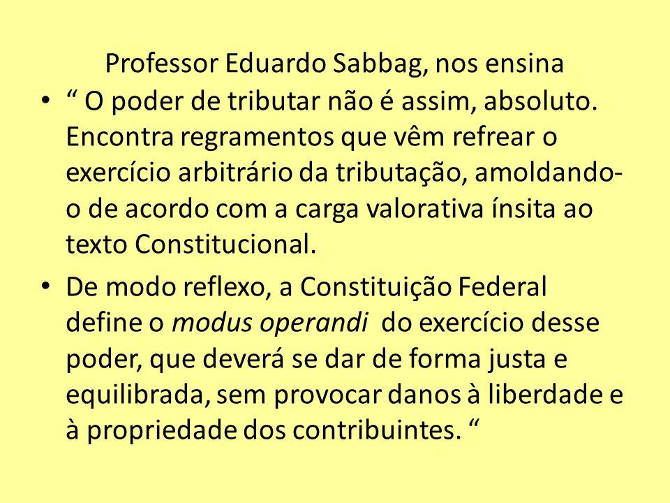 Professor Eduardo Sabbag, nos ensina