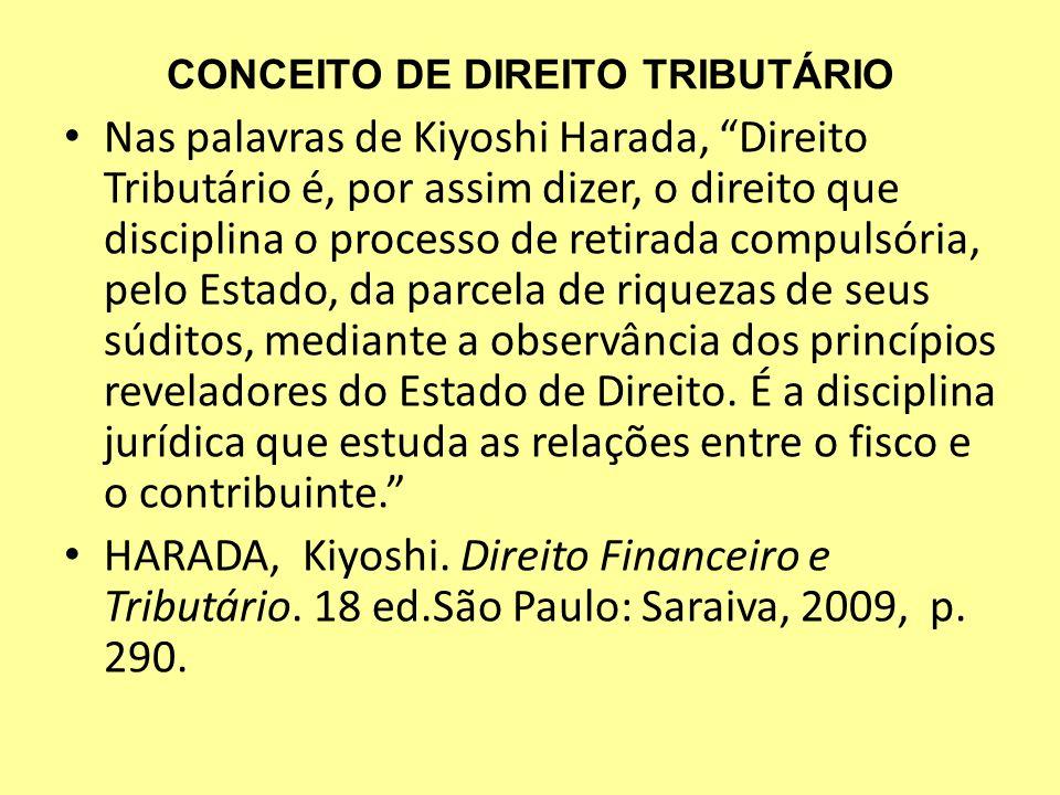 CONCEITO DE DIREITO TRIBUTÁRIO