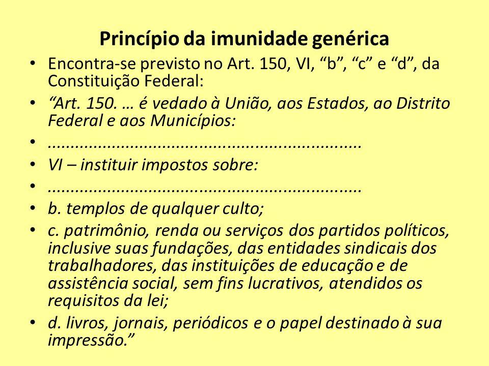 Princípio da imunidade genérica