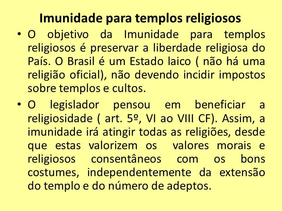 Imunidade para templos religiosos