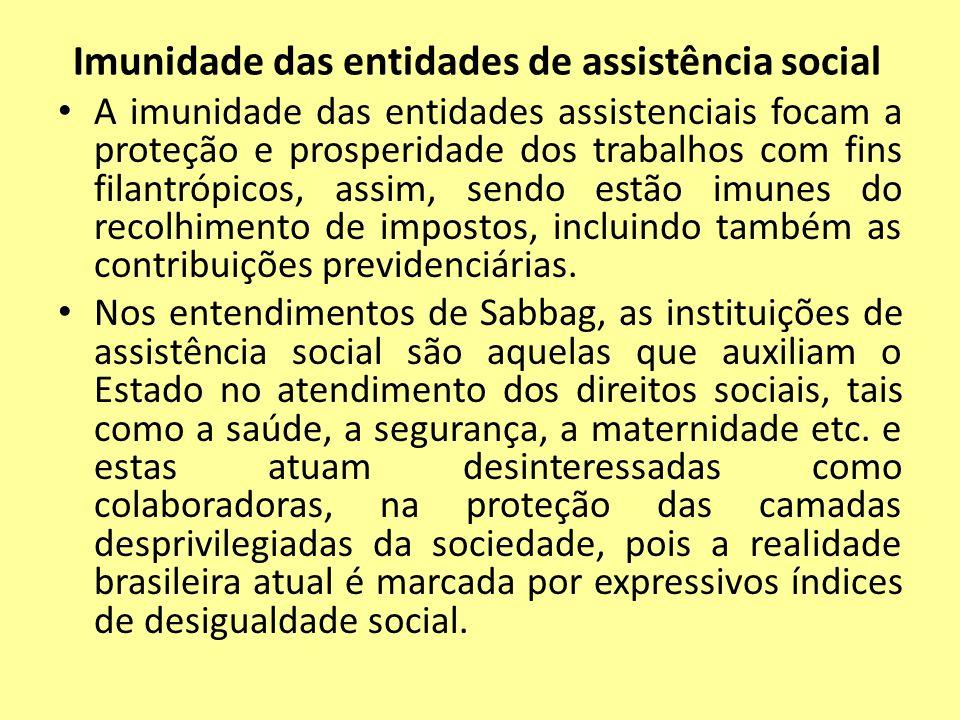 Imunidade das entidades de assistência social