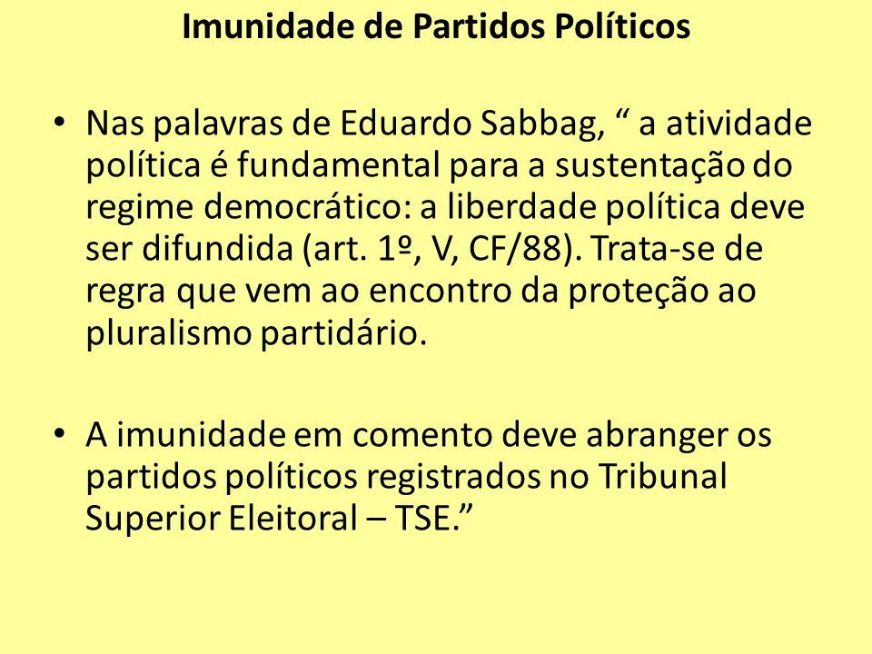 Imunidade de Partidos Políticos