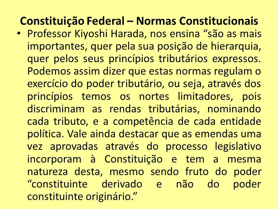 Constituição Federal – Normas Constitucionais