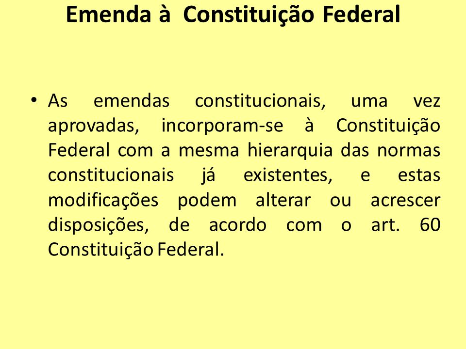 Emenda à Constituição Federal