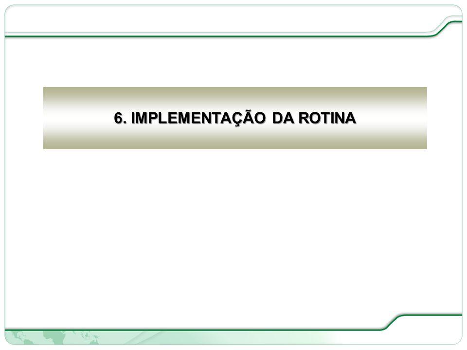 6. IMPLEMENTAÇÃO DA ROTINA