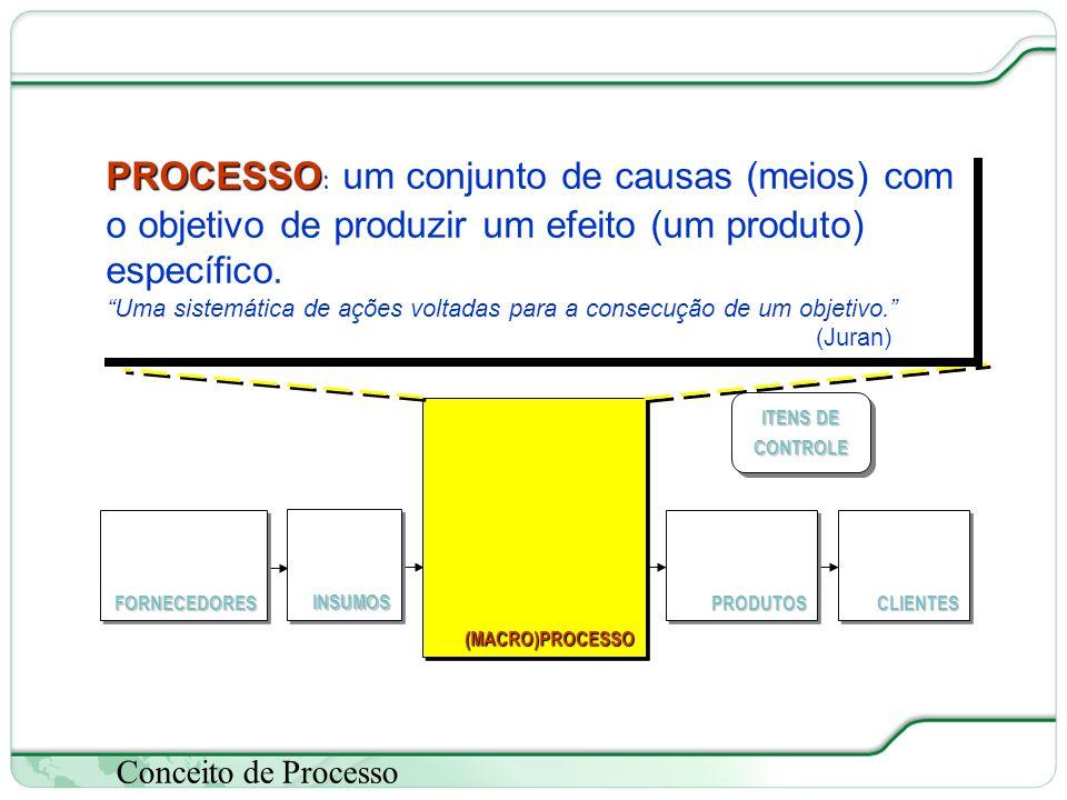 (MACRO)PROCESSO FORNECEDORES. CLIENTES. PRODUTOS. ITENS DE CONTROLE. INSUMOS.