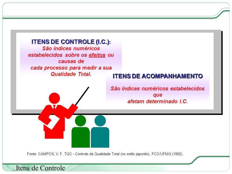 Itens de Controle ITENS DE CONTROLE (I.C.): ITENS DE ACOMPANHAMENTO