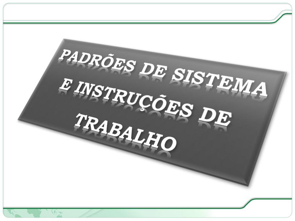 PADRÕES DE SISTEMA E INSTRUÇÕES DE TRABALHO