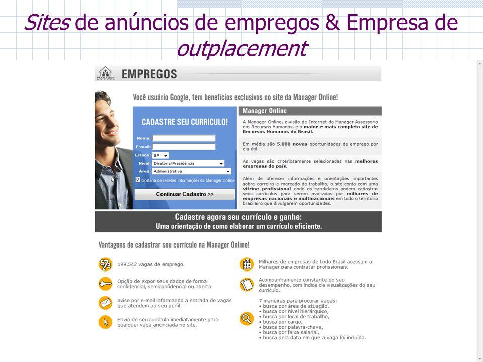 Sites de anúncios de empregos & Empresa de outplacement