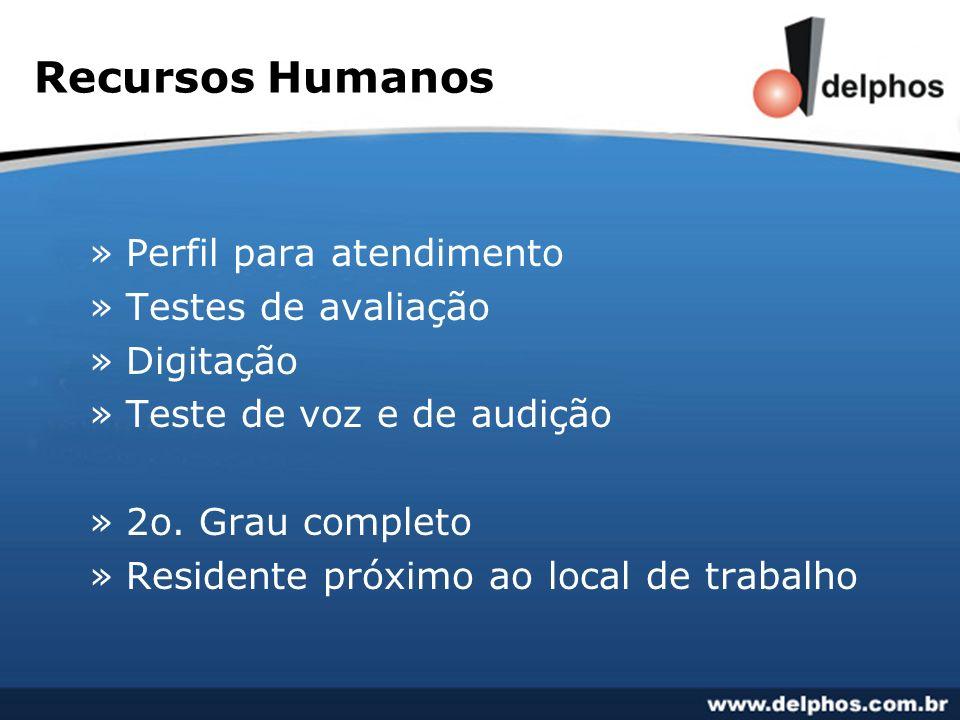 Recursos Humanos Perfil para atendimento Testes de avaliação Digitação