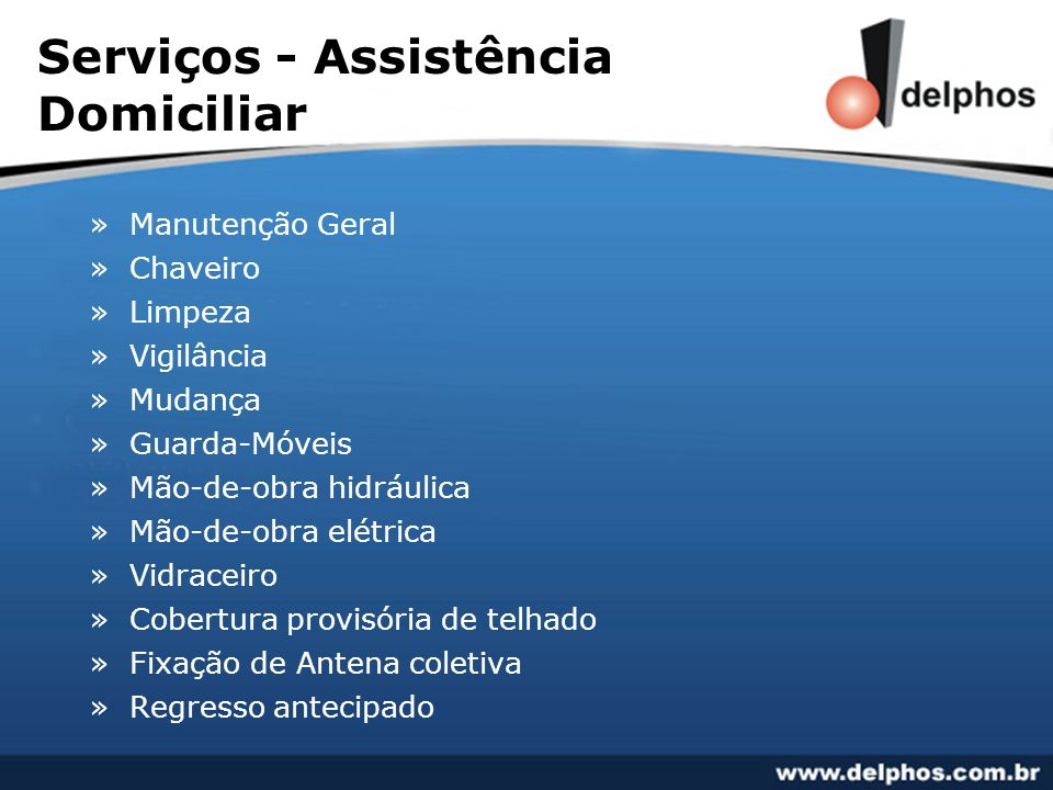 Serviços - Assistência Domiciliar