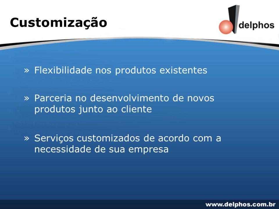 Customização Flexibilidade nos produtos existentes