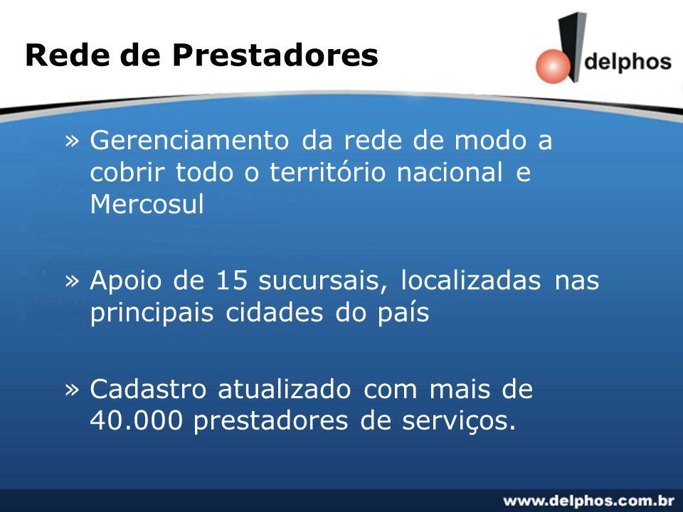Rede de Prestadores Gerenciamento da rede de modo a cobrir todo o território nacional e Mercosul.