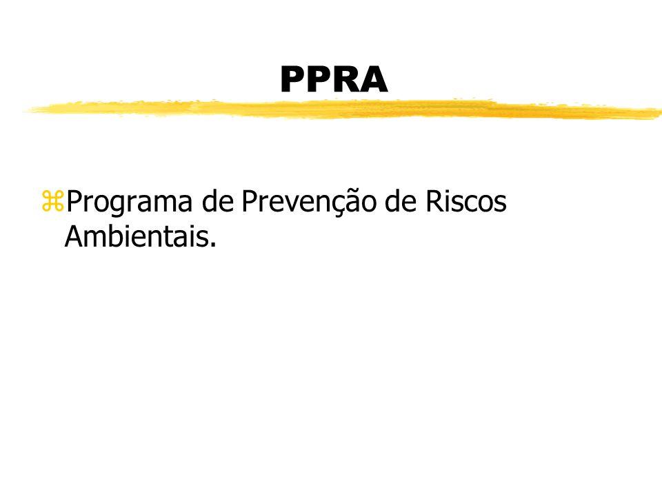 PPRA Programa de Prevenção de Riscos Ambientais.