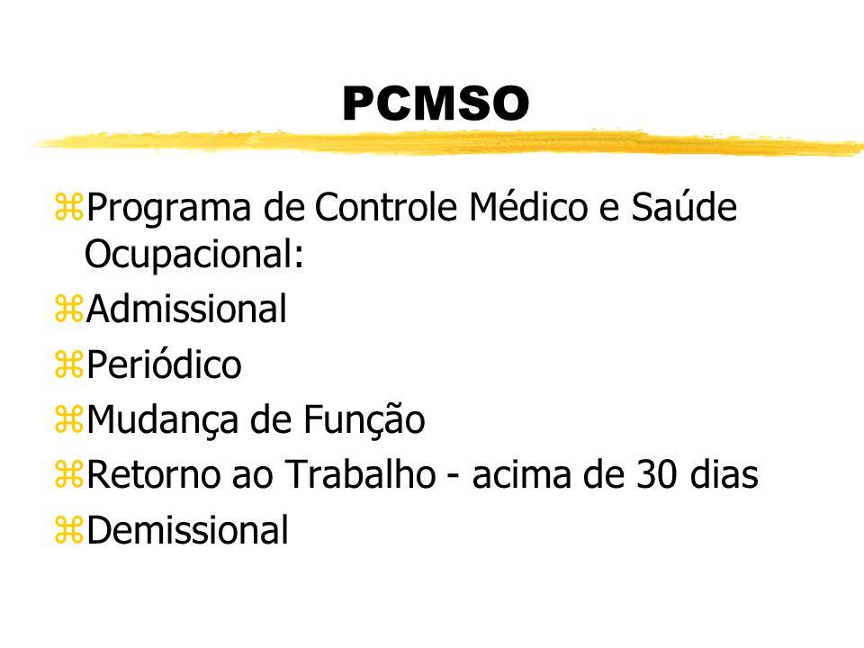 PCMSO Programa de Controle Médico e Saúde Ocupacional: Admissional