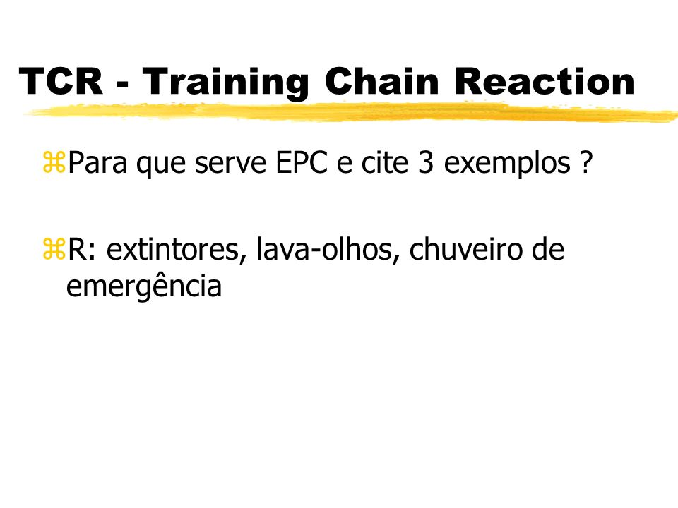 TCR - Training Chain Reaction