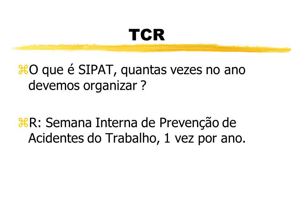 TCR O que é SIPAT, quantas vezes no ano devemos organizar