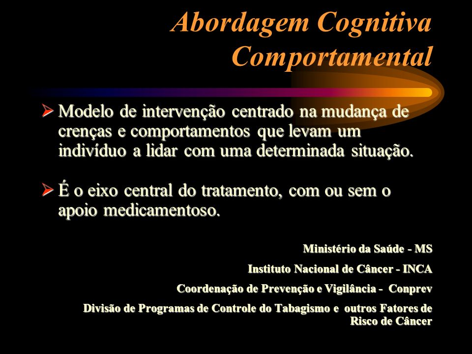 Abordagem Cognitiva Comportamental