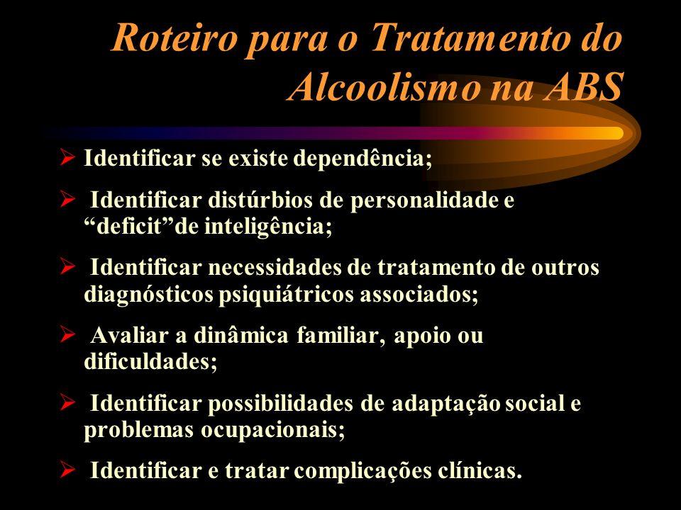 Roteiro para o Tratamento do Alcoolismo na ABS