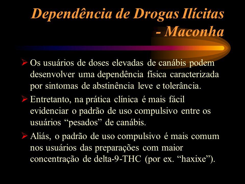 Dependência de Drogas Ilícitas - Maconha