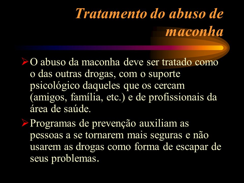 Tratamento do abuso de maconha