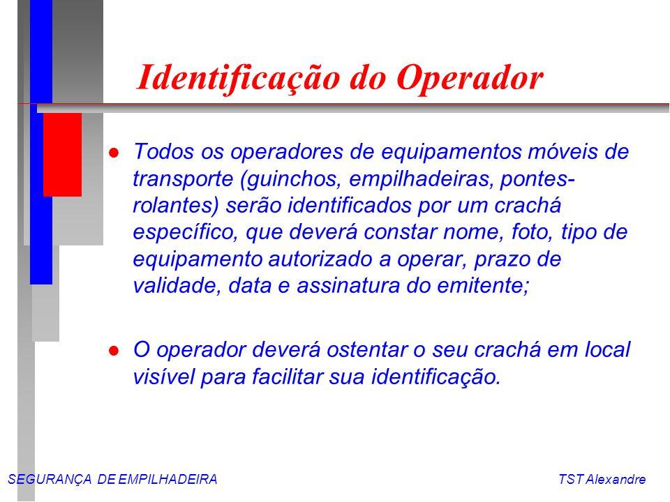Identificação do Operador