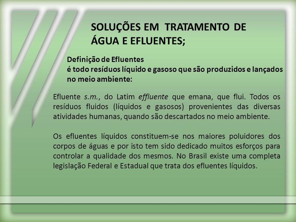 SOLUÇÕES EM TRATAMENTO DE ÁGUA E EFLUENTES;