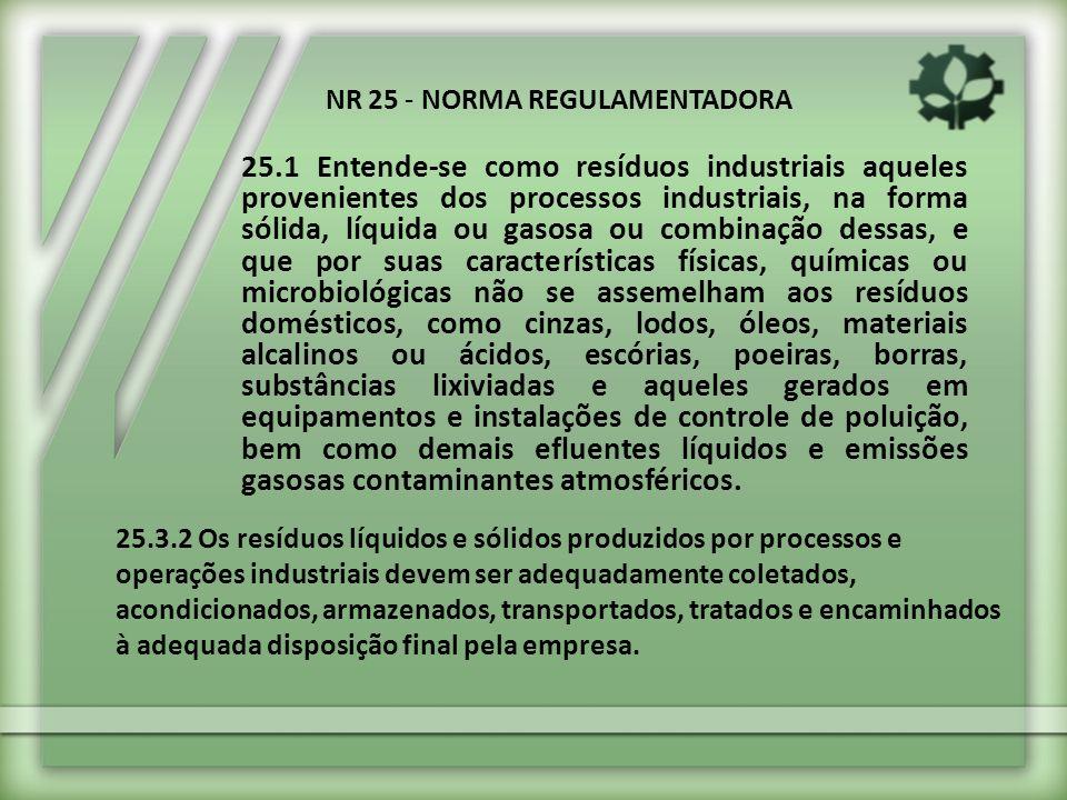 NR 25 - NORMA REGULAMENTADORA