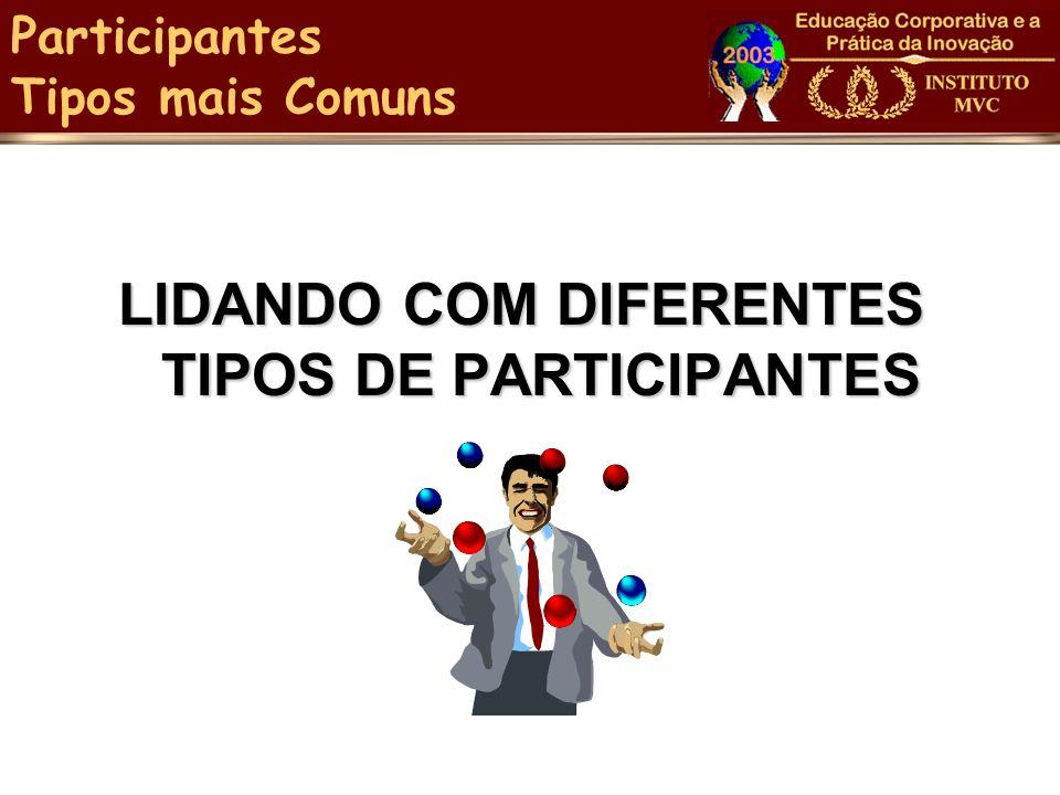 LIDANDO COM DIFERENTES TIPOS DE PARTICIPANTES