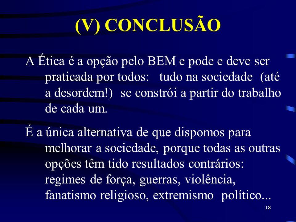 (V) CONCLUSÃO