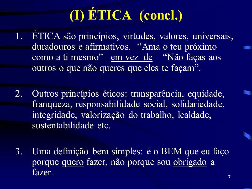 (I) ÉTICA (concl.)