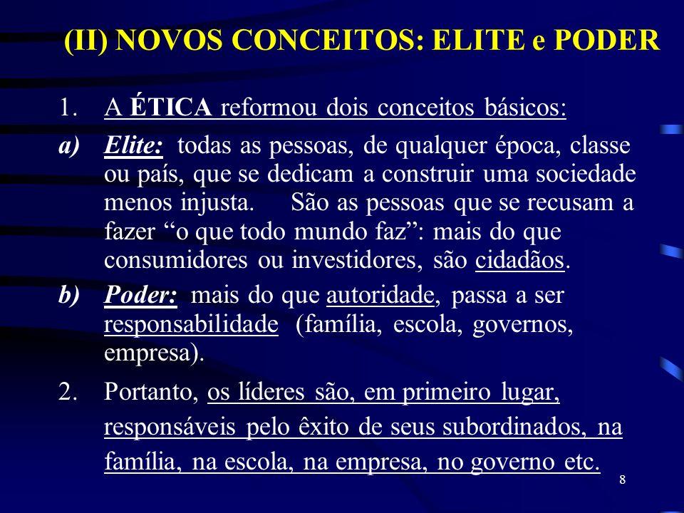 (II) NOVOS CONCEITOS: ELITE e PODER